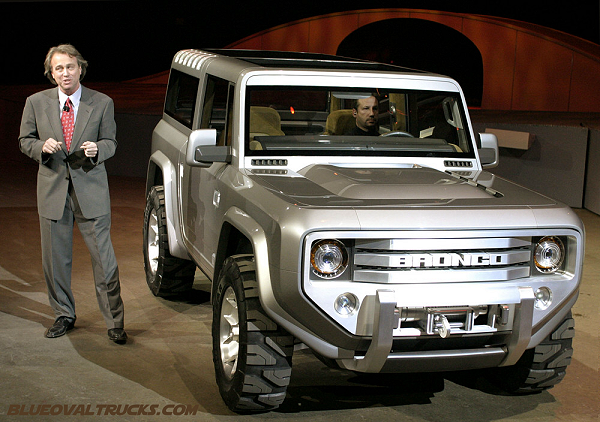 Cameras Roll As The Ford Bronco Concept Is Introduced Sunday January 4 2004 At North American International Auto Show In Detroit Michigan