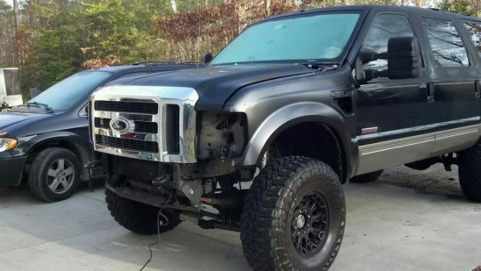 2008 2010 Super Duty Front Clip Conversion On 2004 Ford Excursion