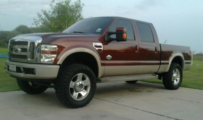This  Uses A Tru Inch Front Leveling Kit With A  Inch Rear Block The Tires Are  E  B Open Countrys