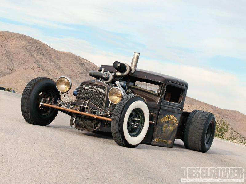 Seat Skins For Trucks >> 1932 Model-A Rat Rod Diesel Pickup – Blue Oval Trucks