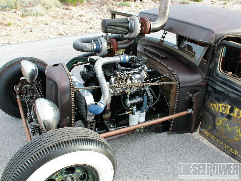 1932 Model A Rat Rod Diesel Pickup Blue Oval Trucks
