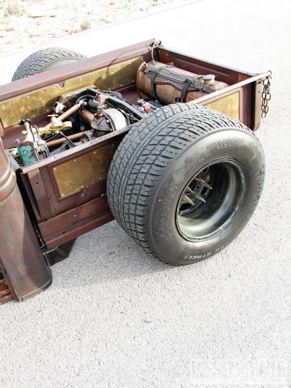 model  rat rod diesel pickup blue oval trucks