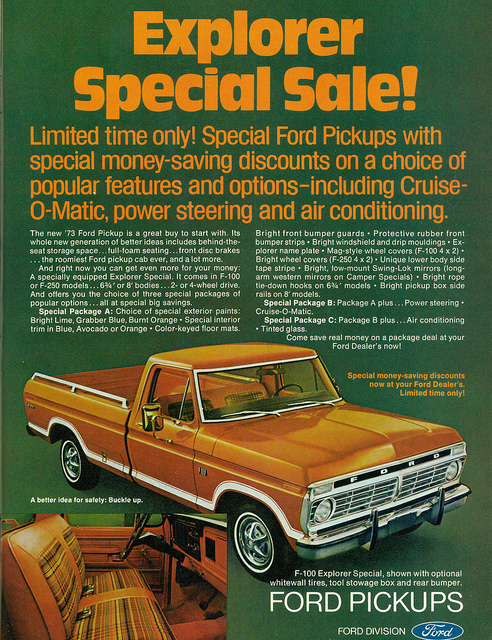 2017 Ford Bronco >> 1970-1979 Vintage Ford Truck Ads – Blue Oval Trucks