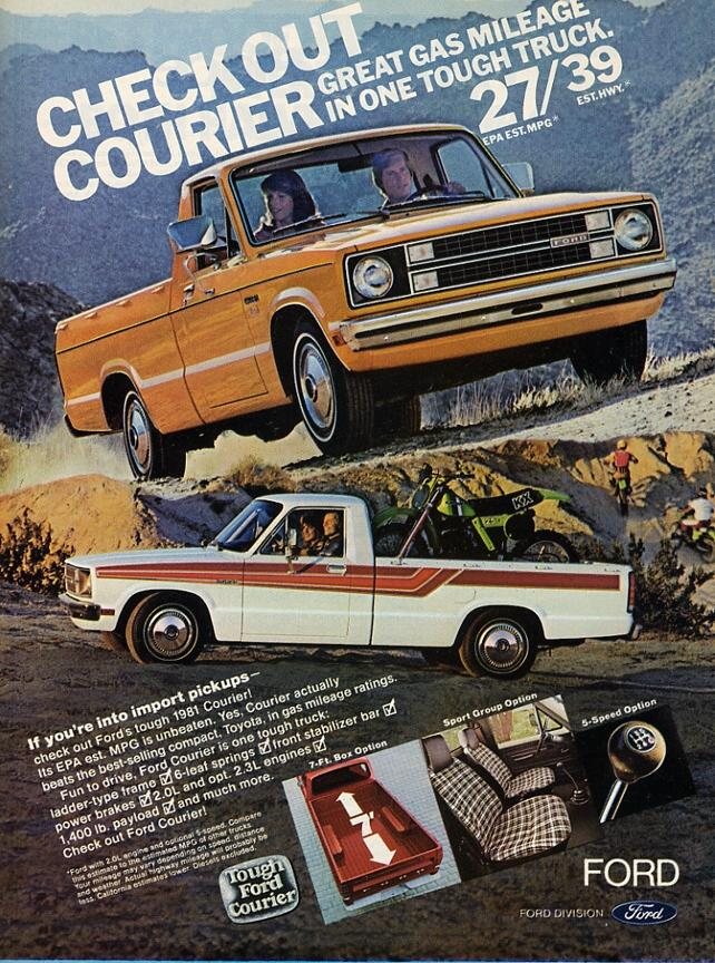 history   ford courier   blue oval trucks