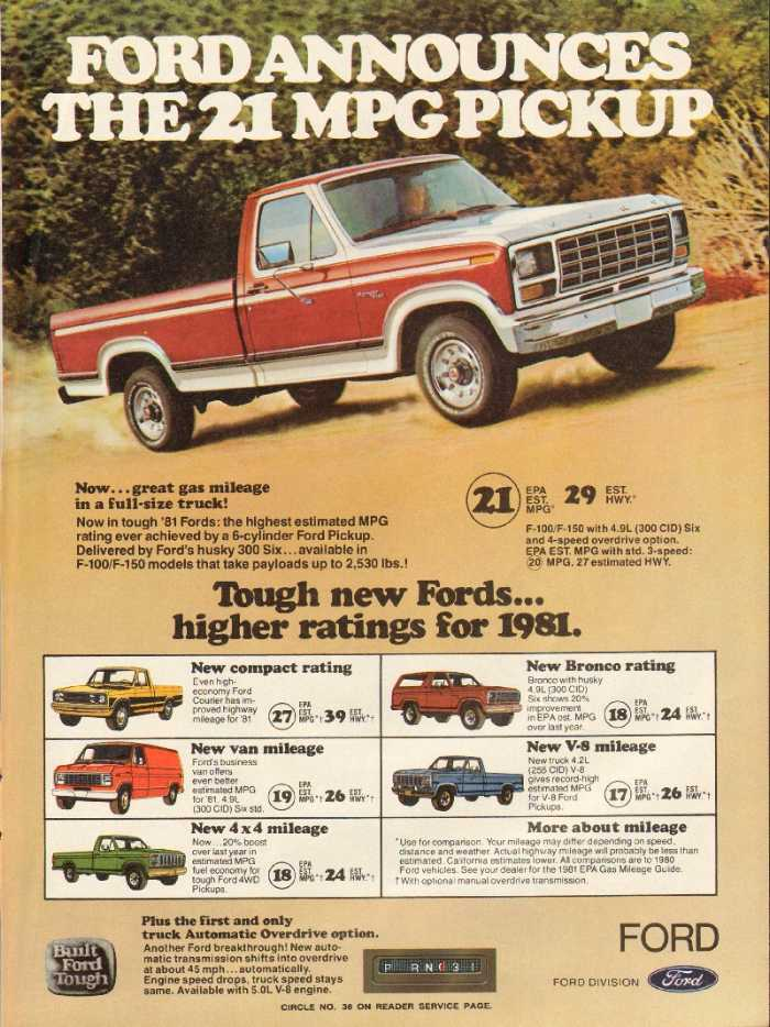 1980 1989 Ford Truck Ads Blue Oval Trucks