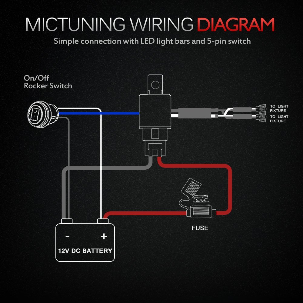 Led Light Switch Wiring Diagram from www.blueovaltrucks.com