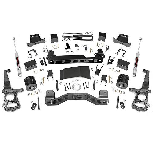 Rough Country 5 Inch Suspension Lift Kit: Rough Country 5-inch Lift Kit W/ N3 Shocks 2015-2018 F150