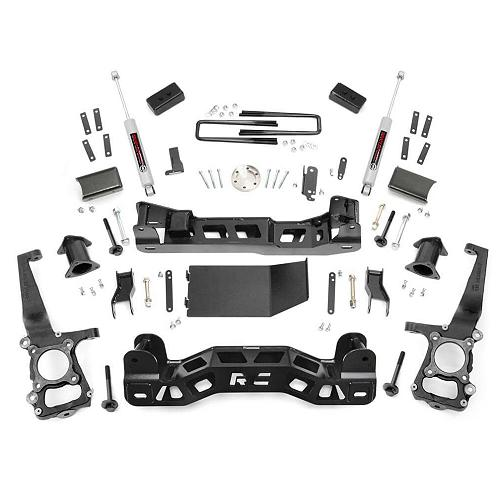 Rough Country 5 Inch Suspension Lift Kit: Rough Country 4-inch Lift Kit W/ N3 Shocks 2014 F150 4WD