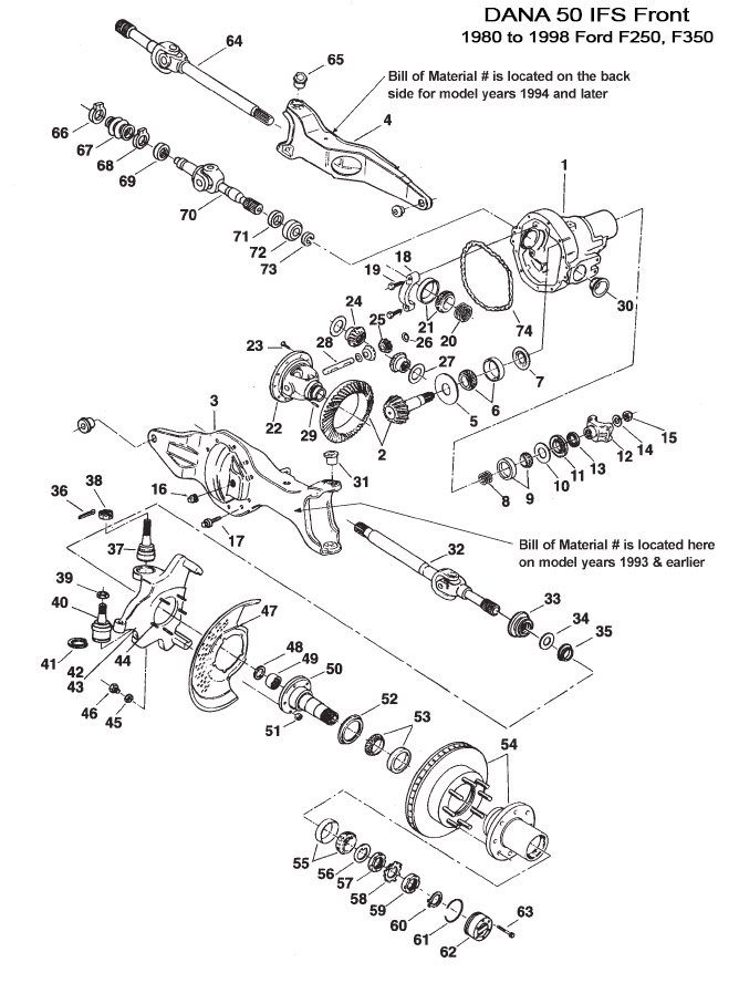 Dana 50 Front End Steering Diagram